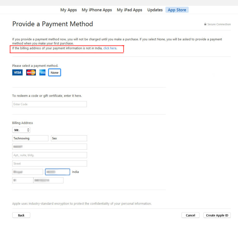 How to create free Apple ID easily in few simple steps? 5