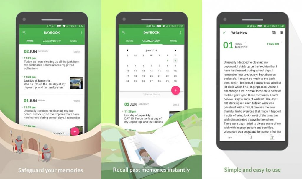 best free android apps - Daybook