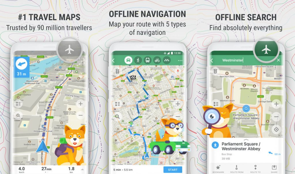 best free android apps - MAPS.ME