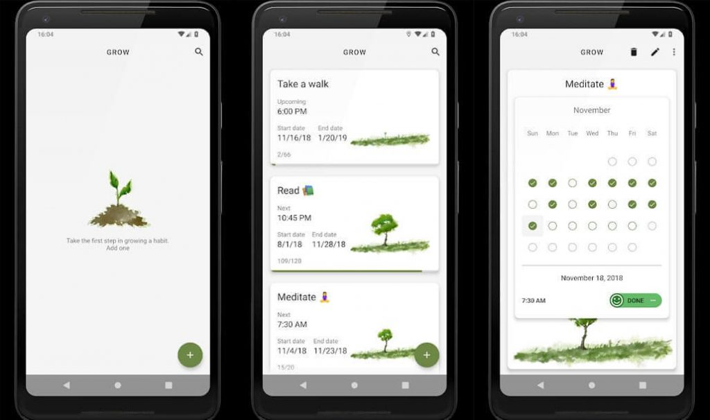 best free android apps - Grow Habit Tracking App