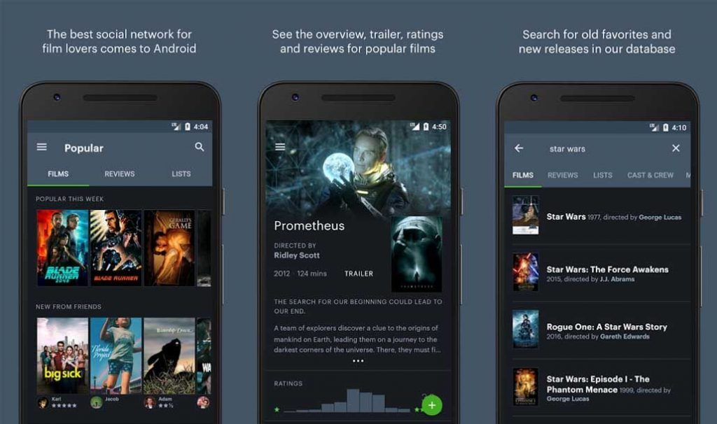 best free android apps - letterboxd