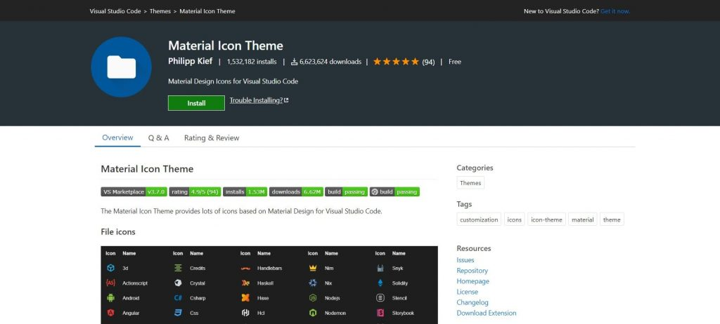 best visual studio extensions - Material Icon Theme